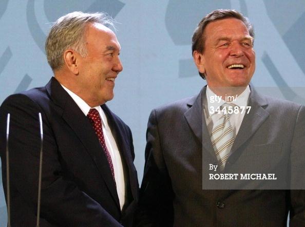 Gerhard Schröder nazarbayev
