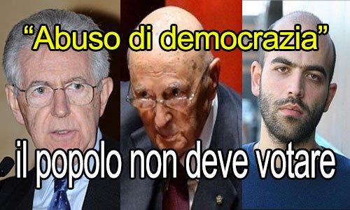 IL POPOLO NON DEVE VOTARE